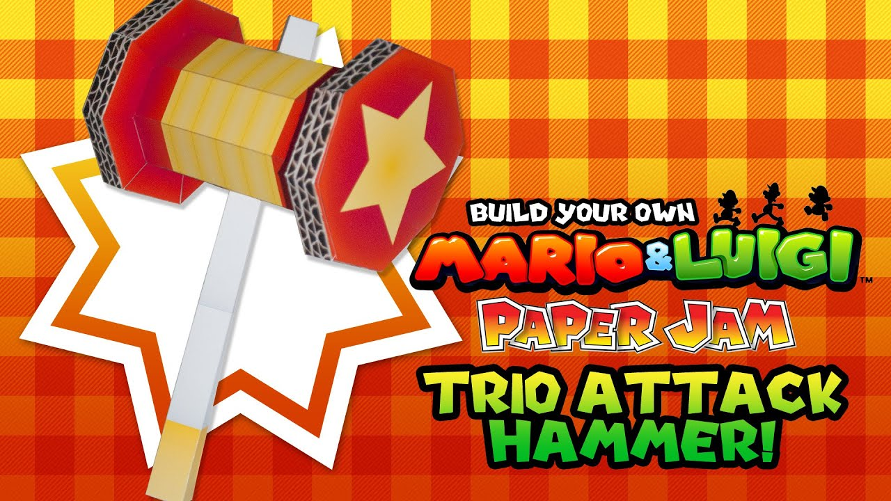 Build Your Own Mario Luigi Paper Jam Trio Attack Hammer In Paper