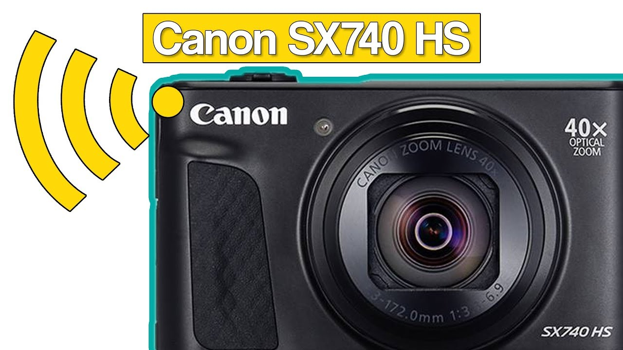 connect your canon powershot sx740 hs with your smartphone. Black Bedroom Furniture Sets. Home Design Ideas