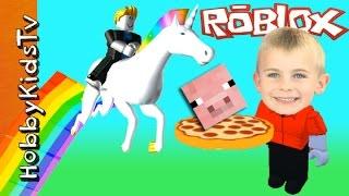 HobbyFrog joue Roblox! Minecraft Video Gaming avec HobbyKidsTV