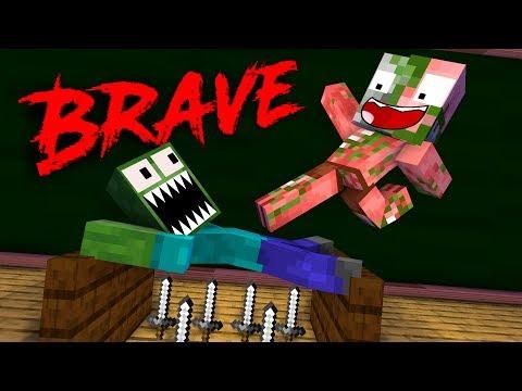 Monster School: BRAVE 3 - Minecraft Animation