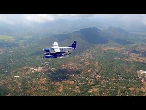 Cessna 208 Amphibian Caravan flying over Sri Lanka (operated by Cinnamon Air)