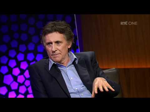 Gabriel Byrne does his best Jedward impression!