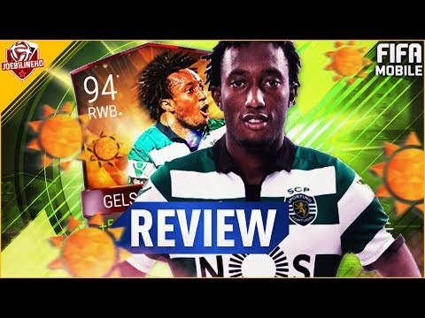FIFA MOBILE 94 RWB GELSON MARTINS REVIEW #FIFAMOBILE SUMMER CELEBRATION LIGA NOS GELSON MARTINS