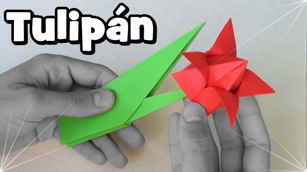 Flor de Papel - Tulipán Origami - YouTube