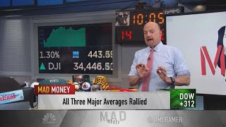 Jim Cramer analyzes Tuesday's stock market rally, encourages patience before jumping in to buy