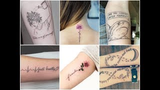Inspirational Quotes Tattoo Design Ideas For Womens