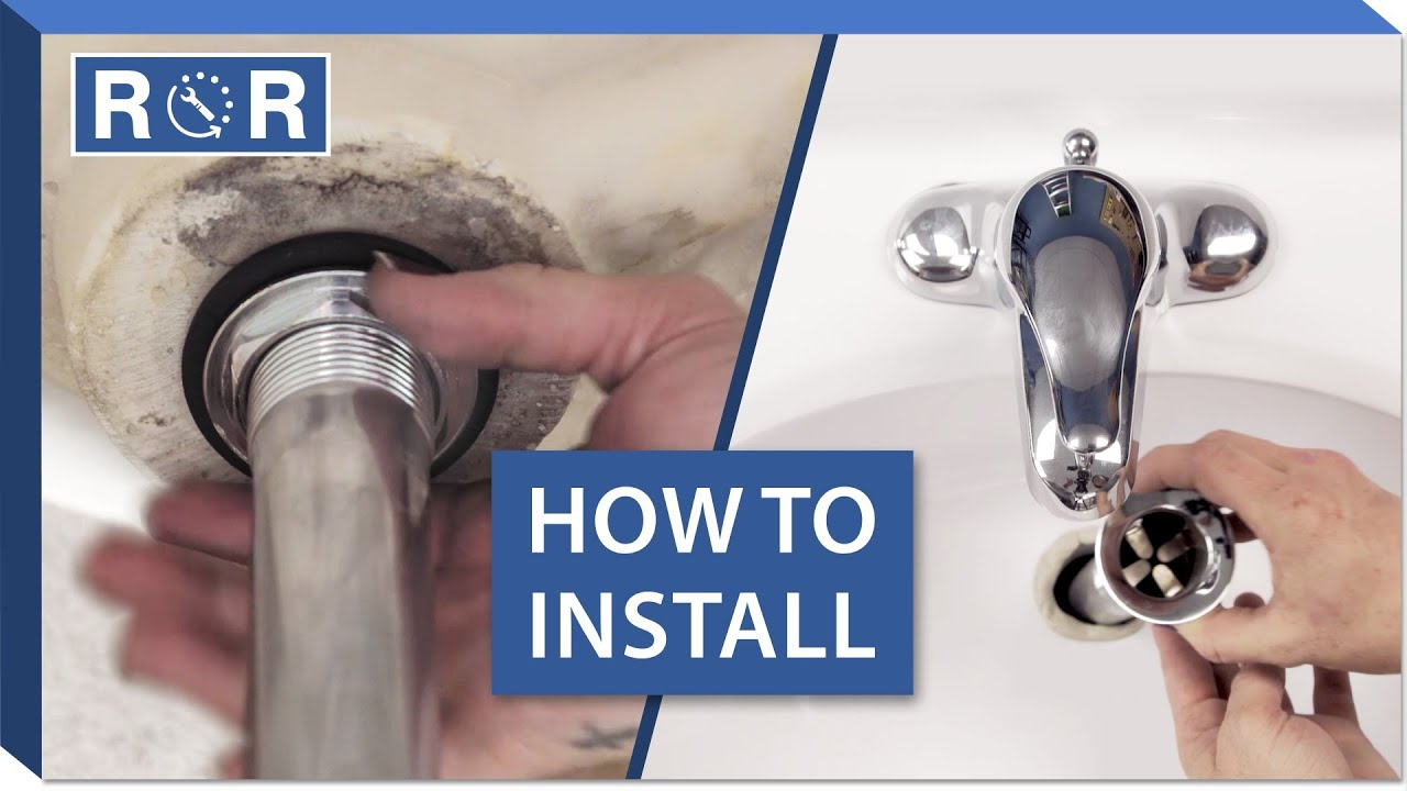 How To Install A Bathroom Sink Drain Repair And Replace YouTube - Bathroom sink plunger repair