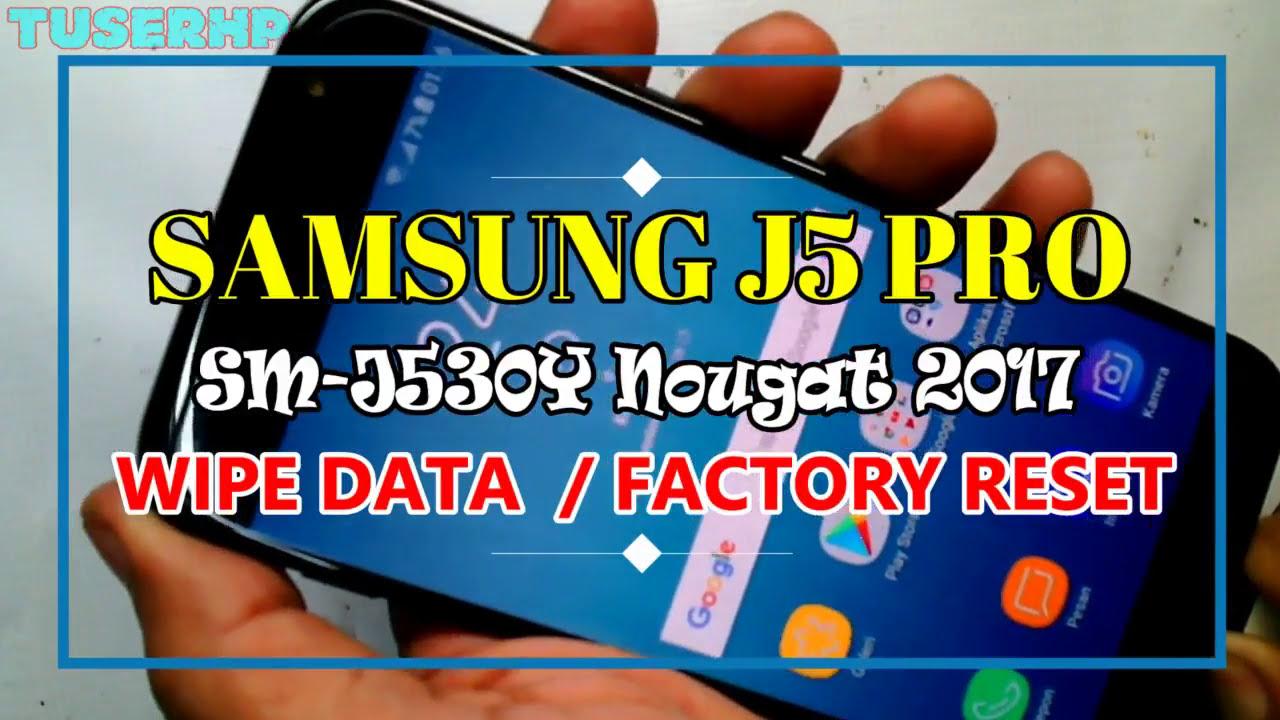 Cara Reset Samsung J5 PRO SM-J530Y - YouTube