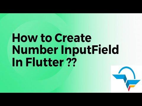 How to Create Number Inputfield in Flutter? | Flutter Tutorial | Flutter Agency