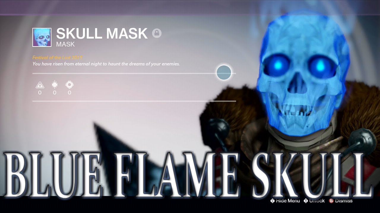 Blue Flame Skull! - Destiny Halloween Update - YouTube