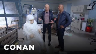Conan Becomes Dwayne Johnson's 'Rampage' Stunt Double
