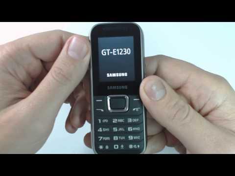 Samsung E1230 factory reset