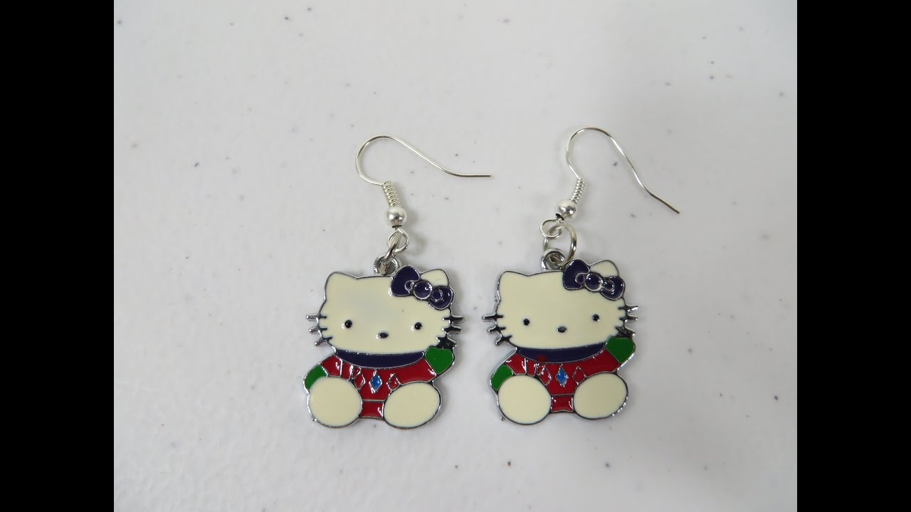 How To Make Custom Hello Kitty Charm Earrings Tutorial Simple ...