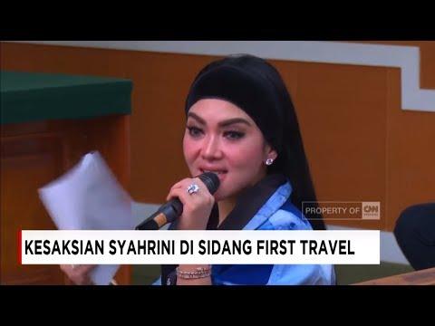 Wow! Syahrini Kepanasan, Lepas Jaket Depan Hakim - Sidang Penipuan First Travel