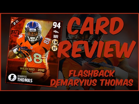 MUT 17 Card Review | Flashback Demaryius Thomas Gameplay + Card Review
