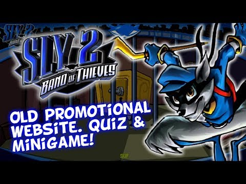 Sly 2 Band Of Thieves UK - Old Website Game - Promotional Material