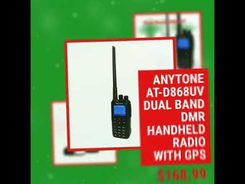 Anytone AT-D868UV Dual Band DMR Handheld Radio with GPS