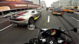 �������� ���� Интенсивный прохват на мотоцикле под музыку 4к || Yamaha r1 & triumph street triple ������