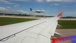 Southwest Airlines Full Flight Ft Lauderdale into Nassau, Bahamas