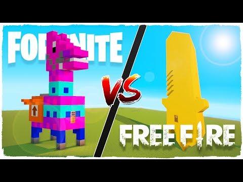 Casa de FORTNITE vs casa de FREE FIRE - MINECRAFT thumbnail