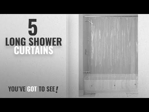 Top 10 Long Shower Curtains [2018]: InterDesign Vinyl 4.8 Gauge Shower Liner, X-Long 72 x 96, Clear