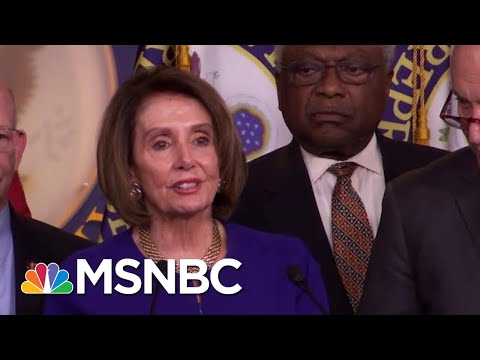 White House Speaker Nancy Pelosi After White House Meeting: 'I Pray For The President' | MSNBC