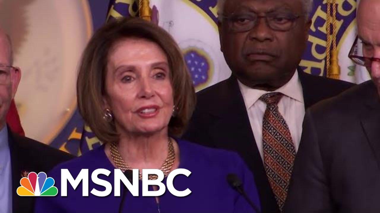 White House Speaker Nancy Pelosi After White House Meeting I Pray For The President Msnbc