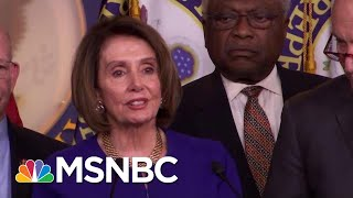 White House Speaker Nancy Pelosi After White House Meeting: 'I Pray For The President' | MSNBC