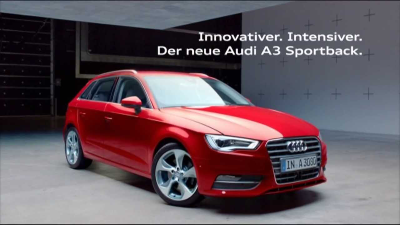 der neue audi a3 sportback audi a 3 sportback audi werbung. Black Bedroom Furniture Sets. Home Design Ideas