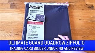 Trading Card Product Reviews: Ultimate Guard QuadRow Zipfolio