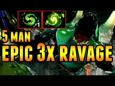 Epic (3x Ravage) Tidehunter Refresher 5 Man Team Wipe - ESL Genting Minor Dota 2