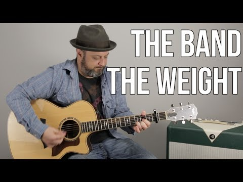 """How To Play """"The Weight"""" On Guitar - Easy Acoustic, The Band"""