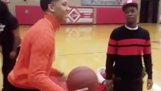 Lil Bibby's Hoop Game Is Serious!!! Makes 3's And Dunks On People