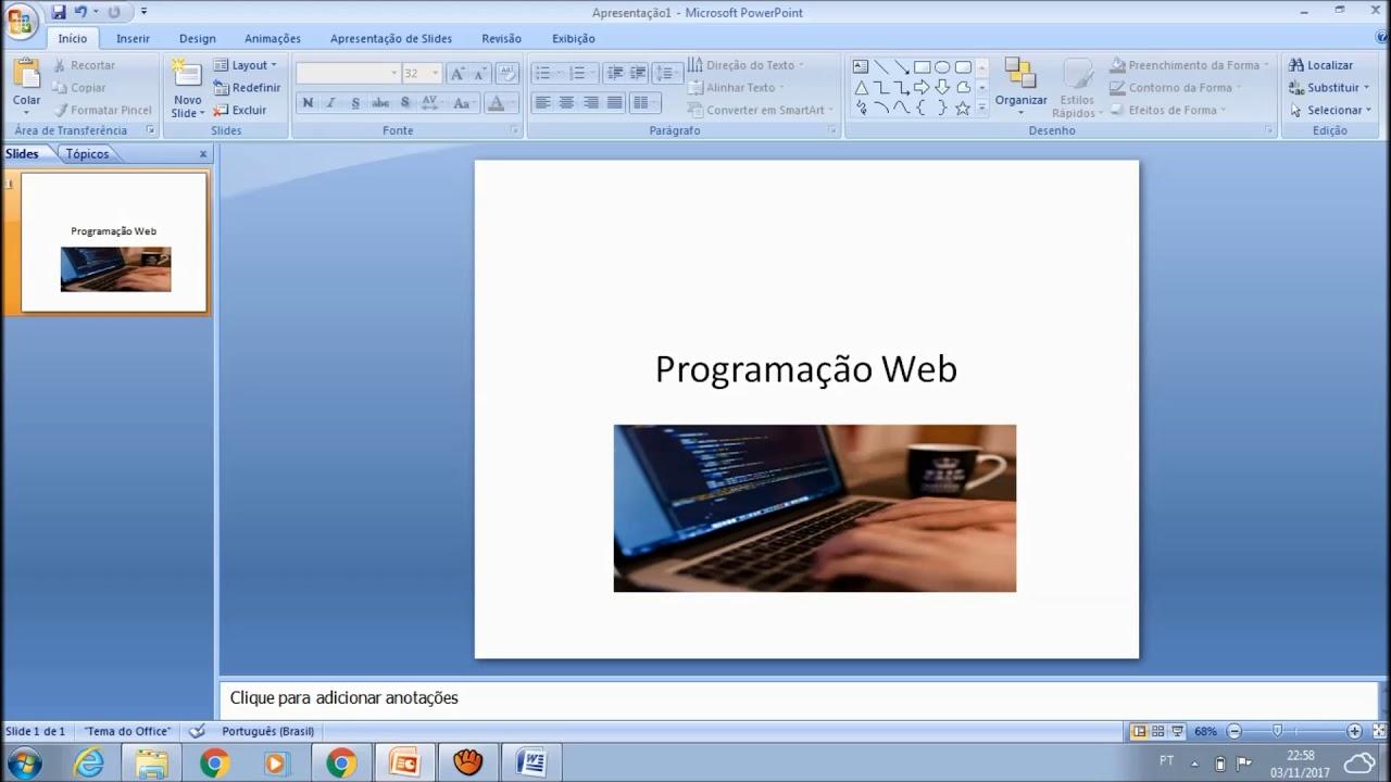 Como fazer apresentao de slides no powerpoint youtube como fazer apresentao de slides no powerpoint ccuart Image collections