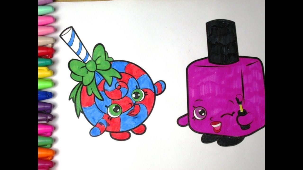 Shopkins coloring pages nail polish - Shopkins Lolli Poppins Shopkins Polly Polish Speed Coloring Page With Crayola