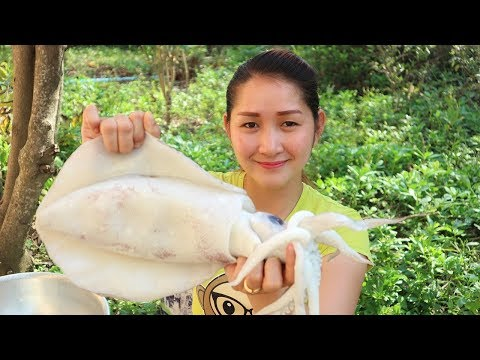 Yummy Giant Squid Curry Cooking Recipe - Giant Squid Curry - Squid Curry Cooking