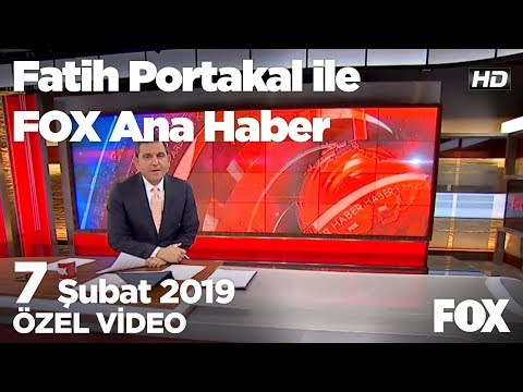 Rakiplerini Tehdit Eden Fatih Bucak CHP'nin Adayı... 7 Şubat 2019 Fatih Portakal Ile FOX Ana Haber