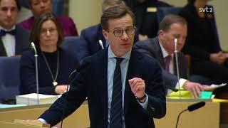 Partiledardebatt 2018 - Jimmie Åkesson vs. Ulf Kristersson - Vart ligger Moderaternas flyktingtak?