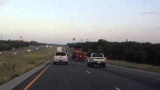 Swerving truck on I-10 near San Antonio, TX