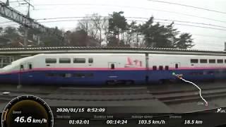 [FHD|ac]JR東日本・上越新幹線:高崎→東京駅間、E4系『Maxとき号』乗車走行シーン。【車窓・側面展望】