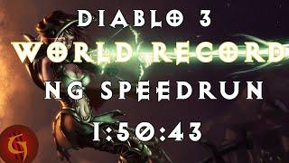 Diablo 3 Demon Hunter Any% NG World Record Speedrun 1:50:43