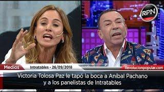 Victoria Tolosa Paz le tapó la boca a Aníbal Pachano y a los panelistas de Intratables