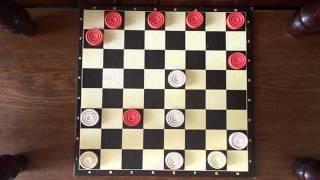 Я играю в шашки Первая партия