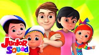 Lagu keluarga jari | Lagu anak anak | Bayi sajak | Junior Squad Indonesia | Kartun untuk anak