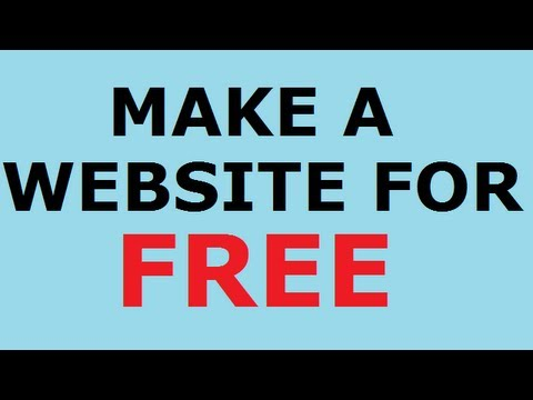 How To Make a Website for Free Free Domain and Free Hosting - YouTube