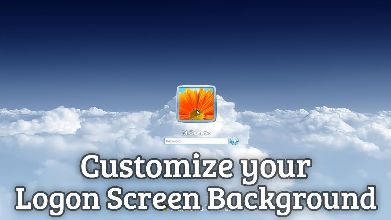 how to change windows 7 logon screen background youtube