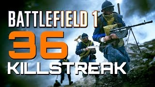 Battlefield 1: 36 Killstreak in Fort Hell - They Shall Not Pass DLC (PS4 PRO Multiplayer Gameplay)