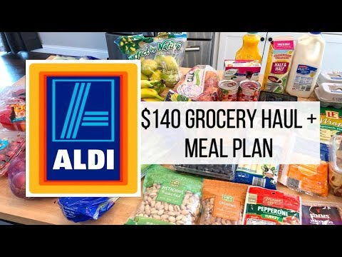 $140 Aldi 🍎 Grocery Haul + Meal Plan // March 1, 2019