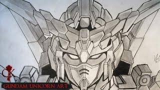 Speed Drawing - Gundam Unicorn