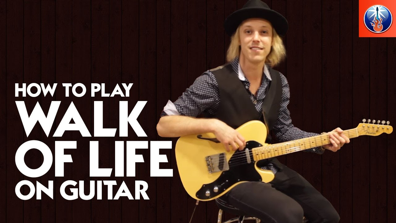 How To Play Walk Of Life On Guitar Dire Straits Walk Of Life